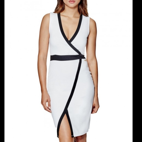 Guess Dresses & Skirts - GUESS White with Black Trim Dress